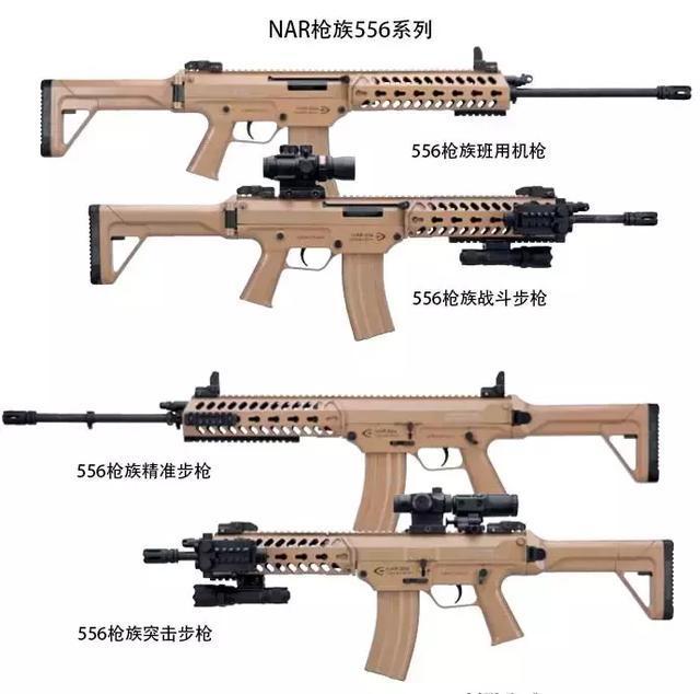 ��.�x_62x51毫米北约nato弹),nar枪族556系列(发射5.56北约nato弹)三个系列.