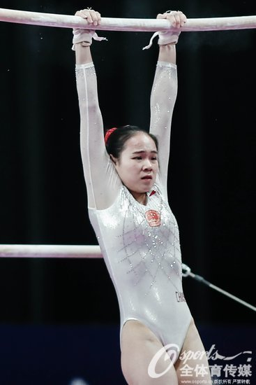 亚运会女子体操团体决赛 中国击败朝鲜夺得金牌