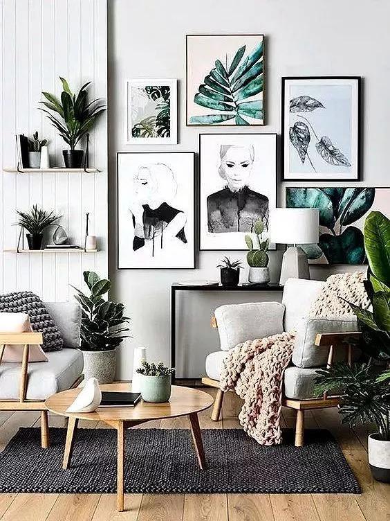 家里不装电视,那自然也不用费工夫精心设计电视墙,空着的墙壁总不能图片