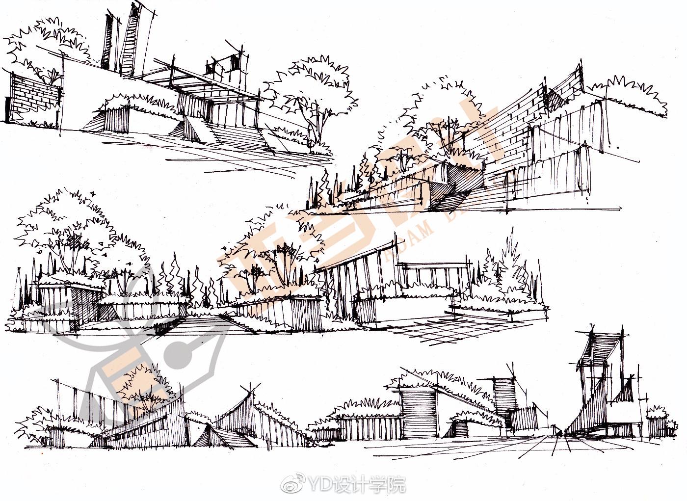 「设计手绘」分享景观设计手绘表现的小技巧