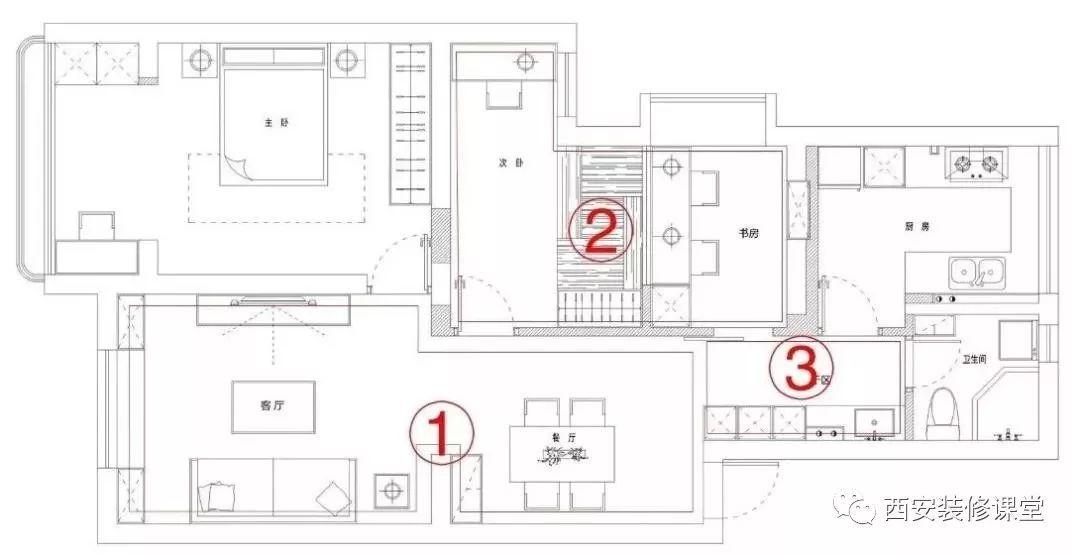 95平方自房设计图