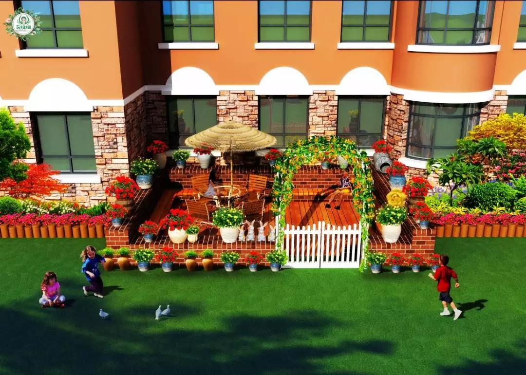 南阳园林式生态幼儿园设计效果图图片