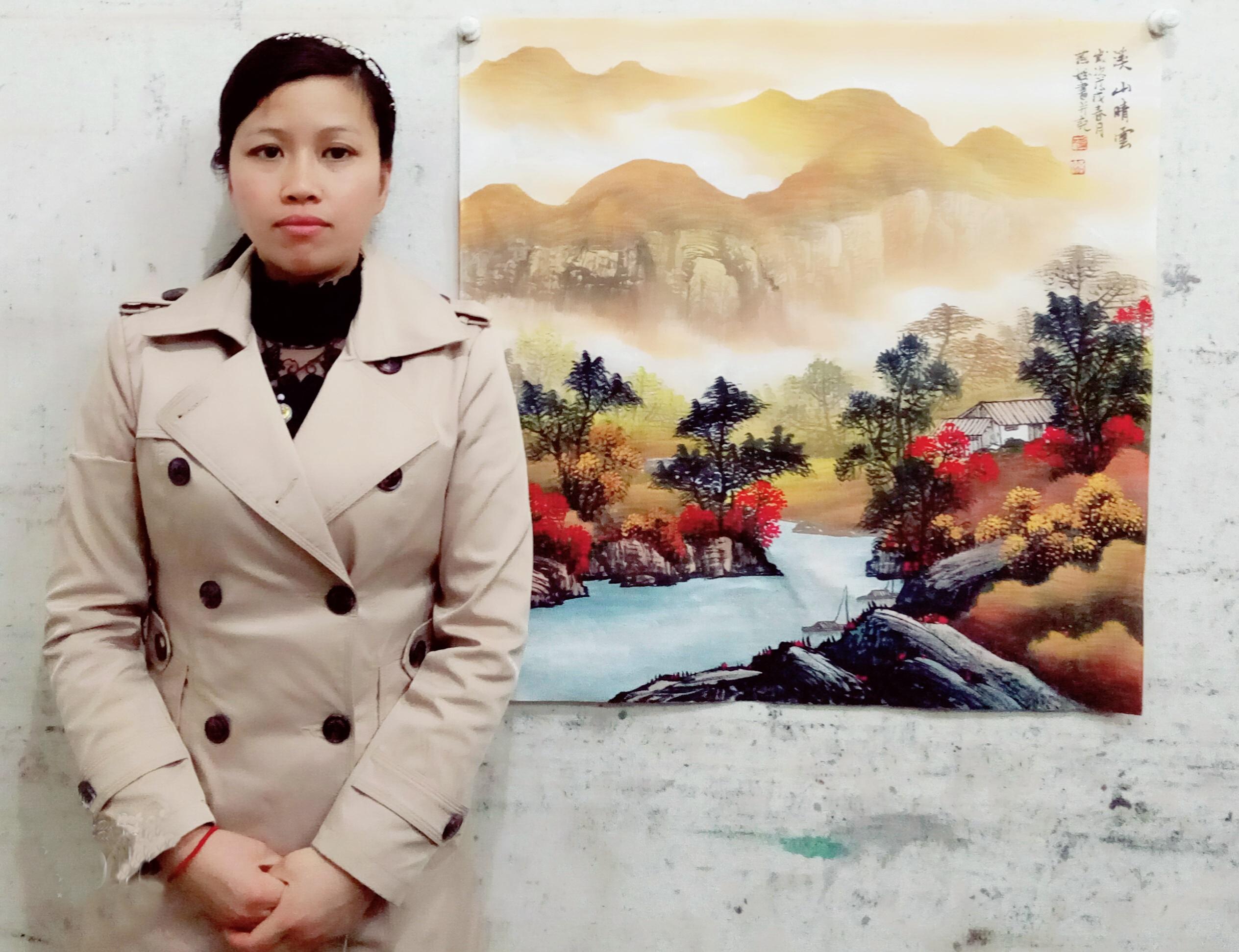 当代实力女画家刘燕姣的山水画,简洁素雅更具深刻内涵