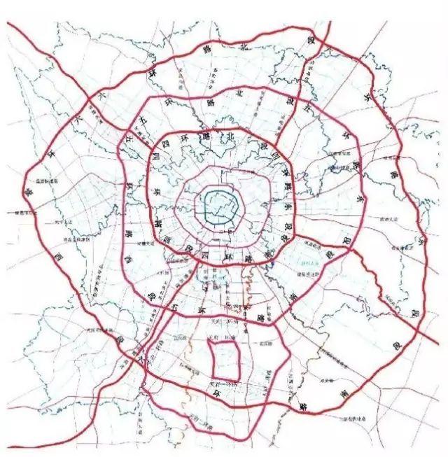 最新版《成都市六环地图》发行啦!快来找找你家在几环图片