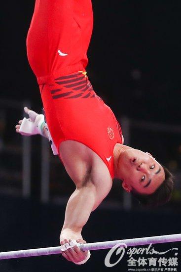 亚运男子体操单杠决赛唐嘉鸿夺冠中国包揽银铜