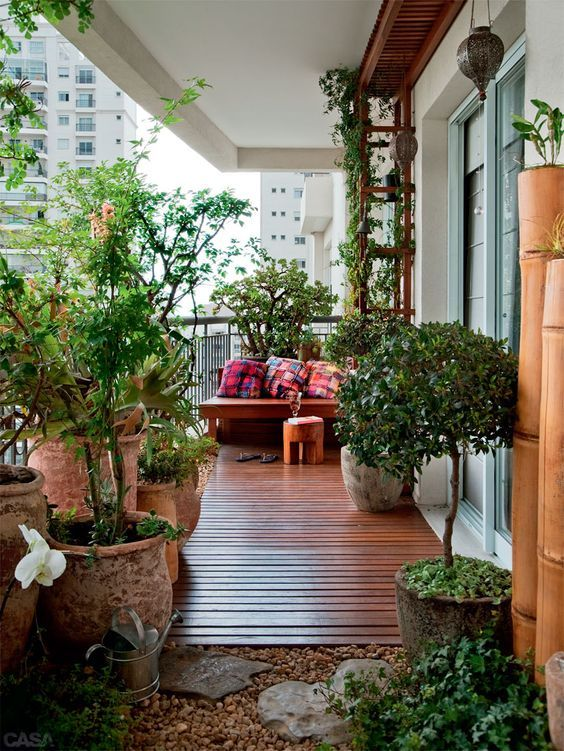 阳台墙面花架设计图片