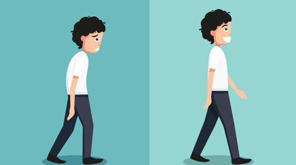 想挺直了走路,走路姿勢得正確圖片