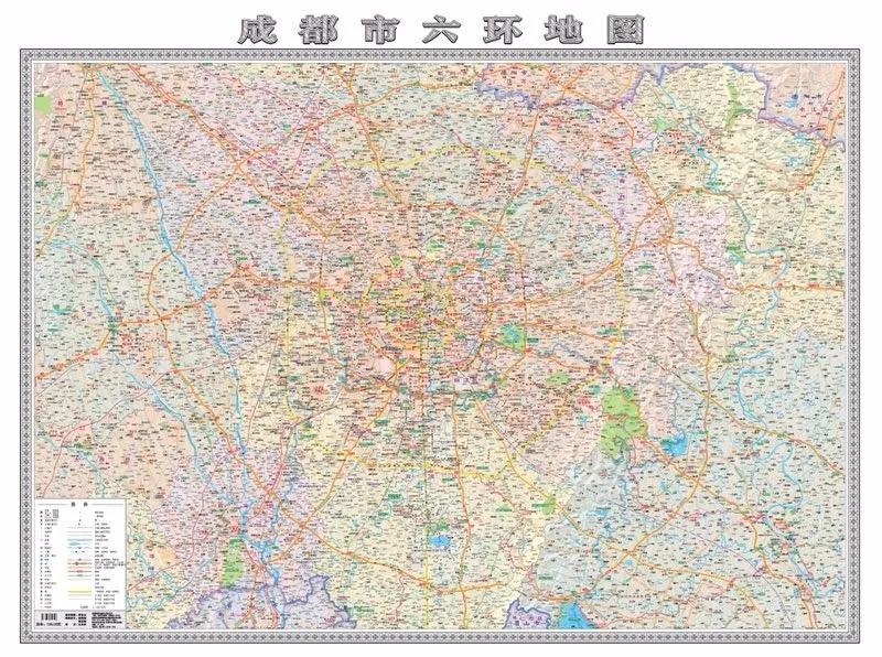 最新出版的《成都市六环地图》 图片由成都 地图出版社提供.