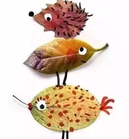 N款幼儿园秋季创意手工 主题环创 树叶粘贴画