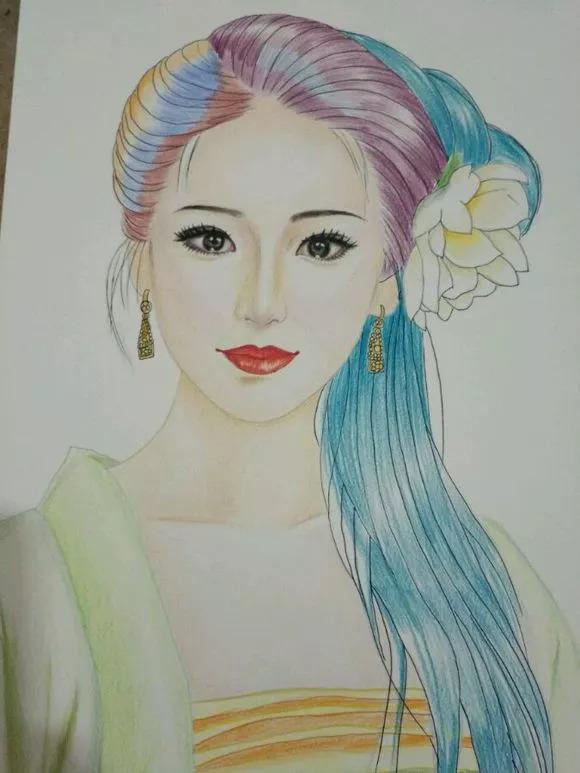 手绘-彩铅古装美女教程