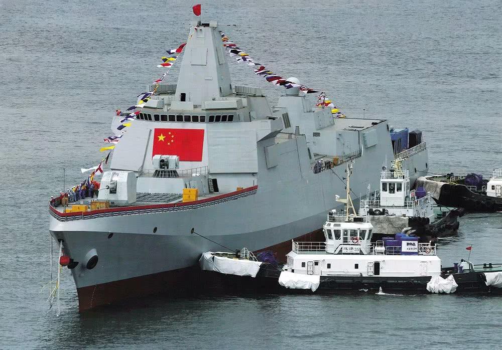最强航母战斗群_055大型驱逐舰海试照片曝光 中国海军航母战斗群中坚力量_进行