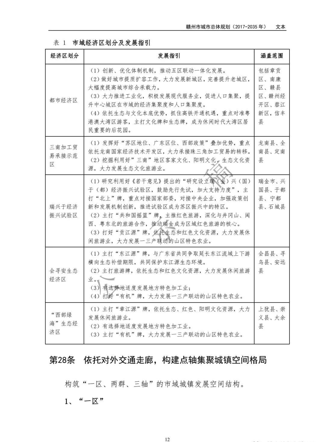 赣州市2035年城市总体规划出炉 与 两个一百年 目标相衔接