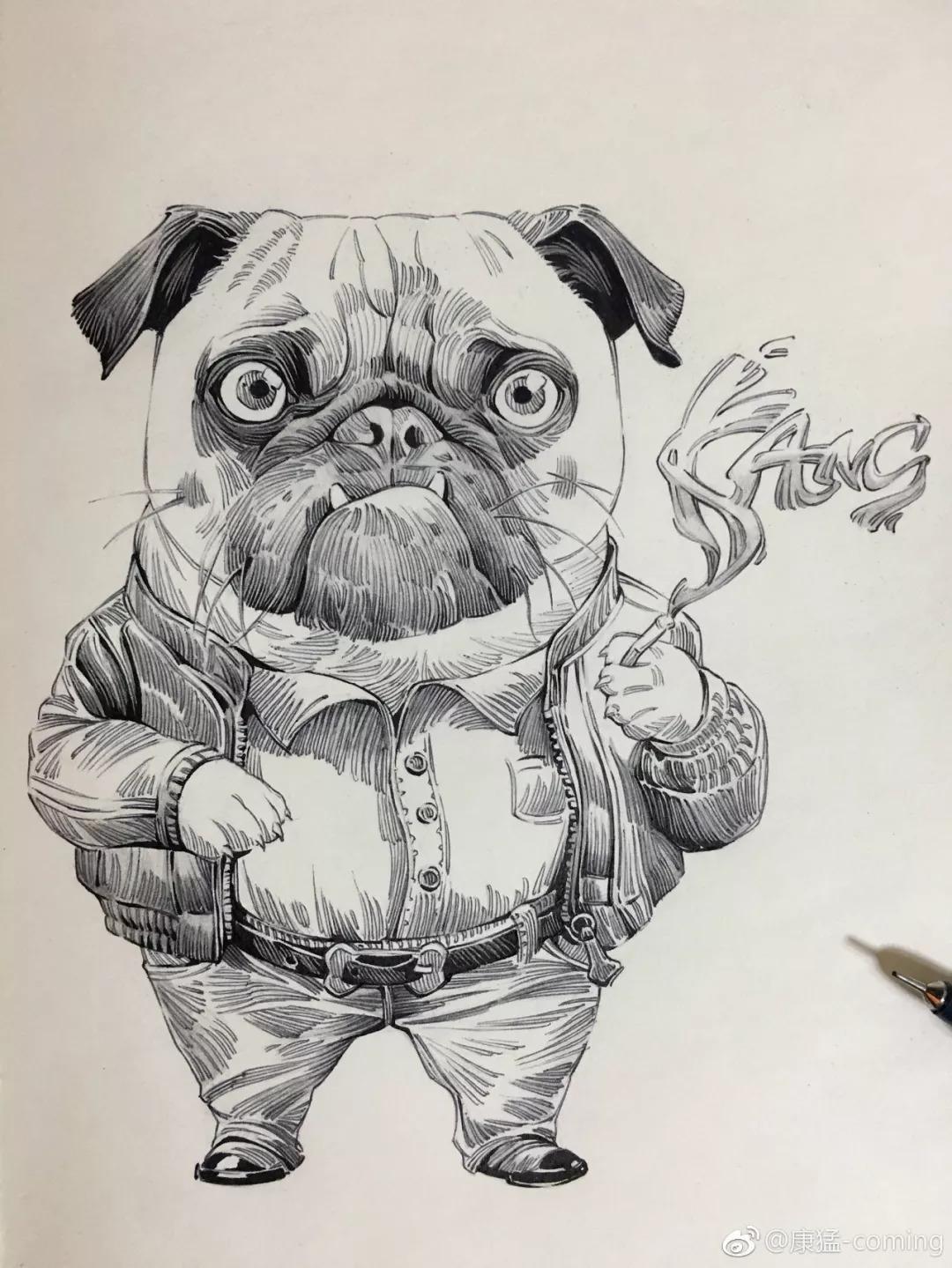 试试针管笔手绘,效果很美!