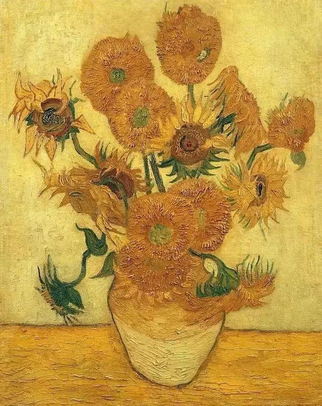 在这期间他完成了系列《向日葵》,这是梵高在黄房子里面的最后一幅