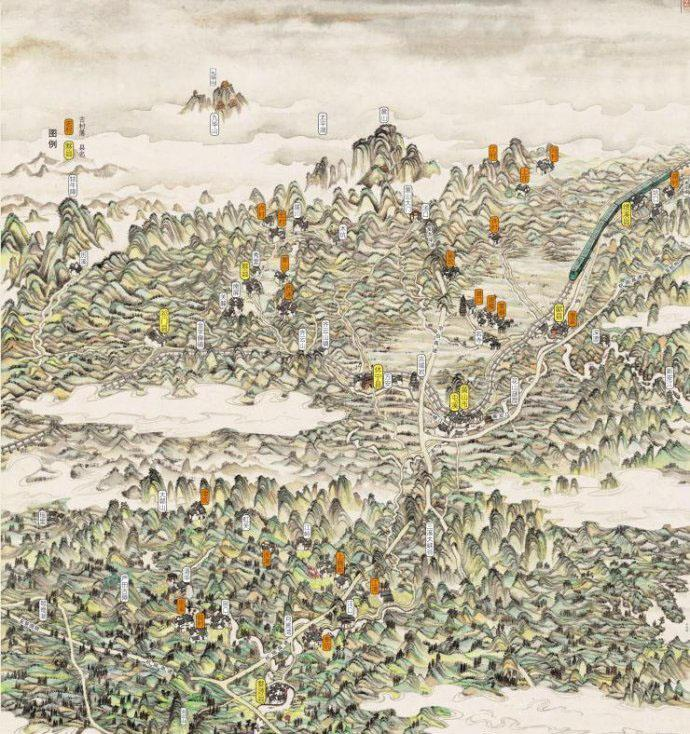这张手绘图可以告诉我们,徽州到底有哪些古村落.