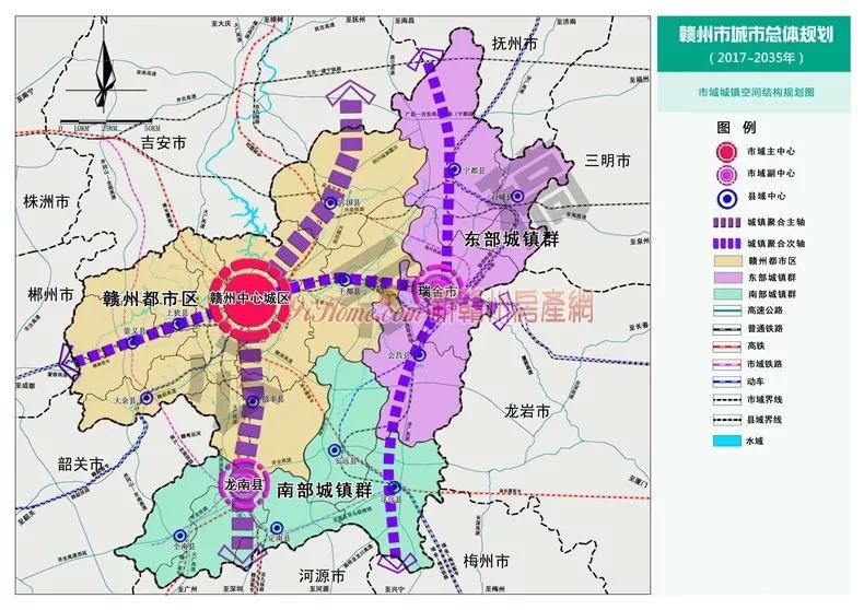 图解!赣州市城市总体规划(2017-2035年)出炉!
