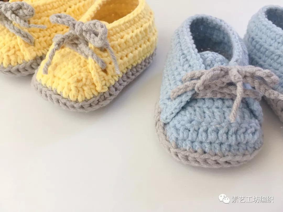 编织视频教程 | 钩宝宝系带休闲鞋秋冬单鞋婴儿毛线鞋