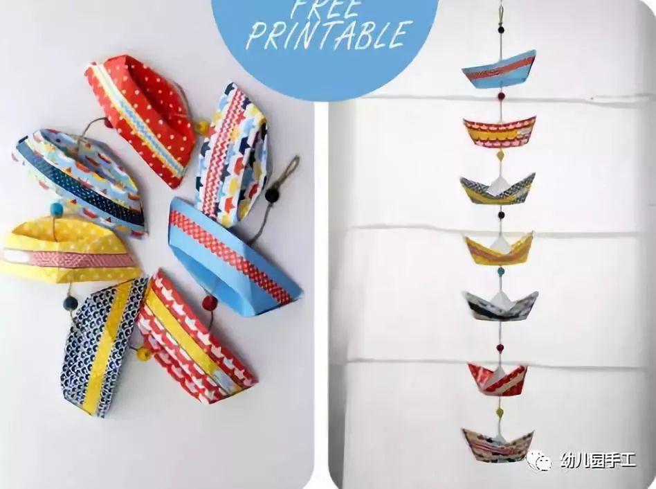 高逼格的幼儿园创意手工环创吊饰,美呀美!