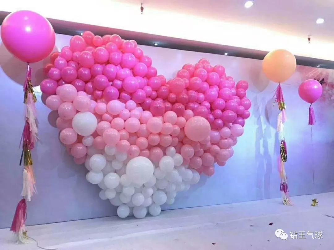 求婚布置室内结婚礼求婚表白立体爱心气球套餐生日派对情人节...