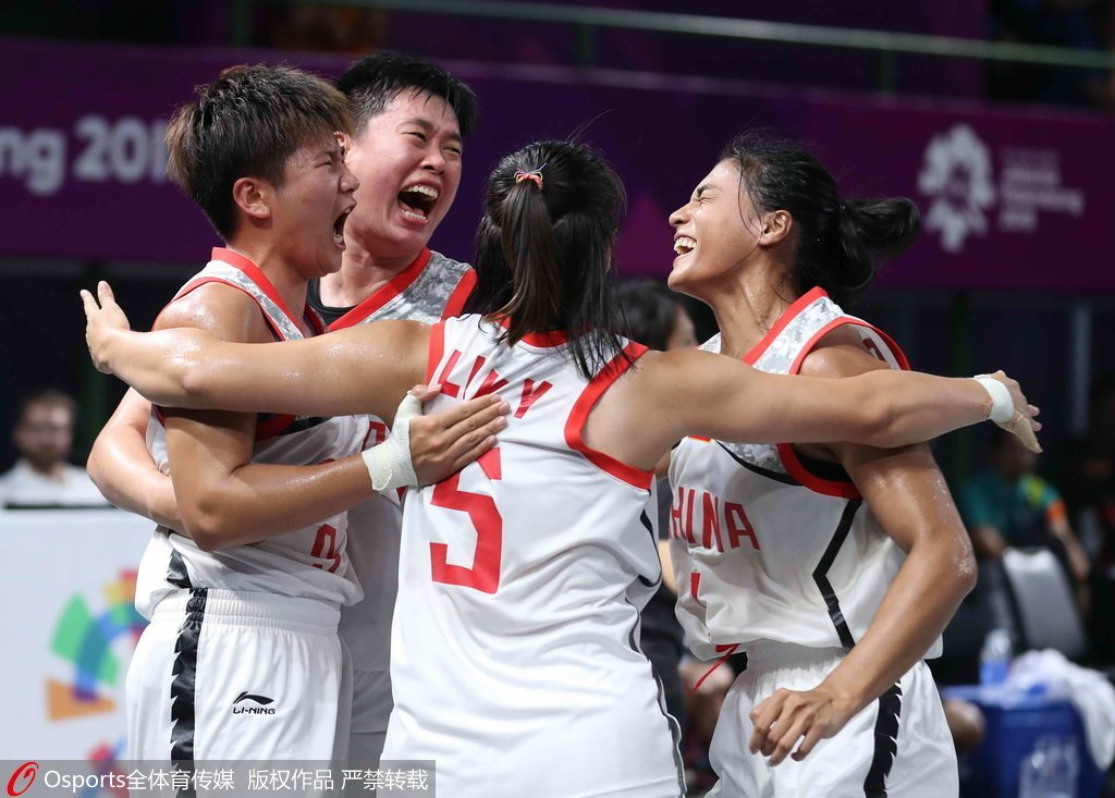 中国篮球_亚运三人篮球-中国女队21-10胜日本 夺得金牌_决赛