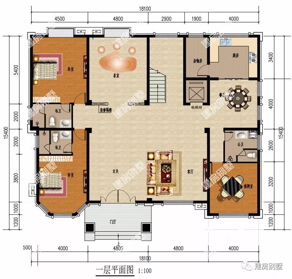 四室一厅平面设计图