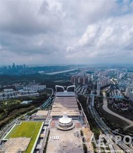 南宁国际会展中心会展豪生酒店和会展大厦建设落成