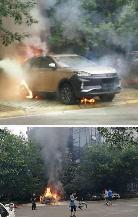 一辆威马汽车发生自燃焚毁 回应称属报