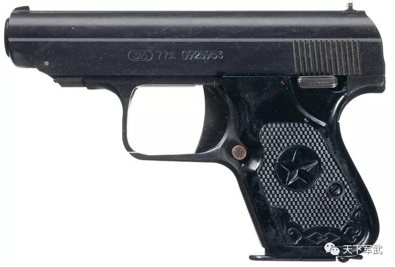 取消击锤的77式手枪