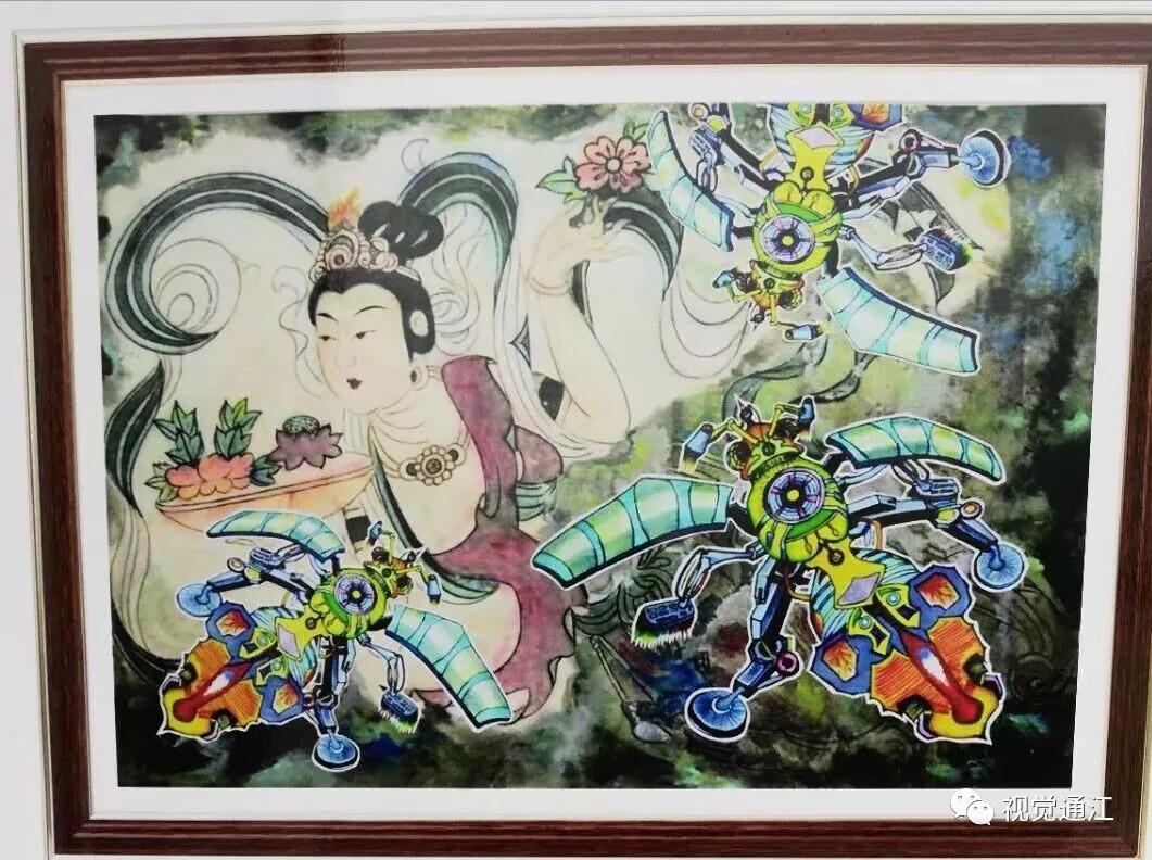 王瀚宇 《环保卫士---夹竹桃配醣体提取机器》 获科学幻想绘画全国图片