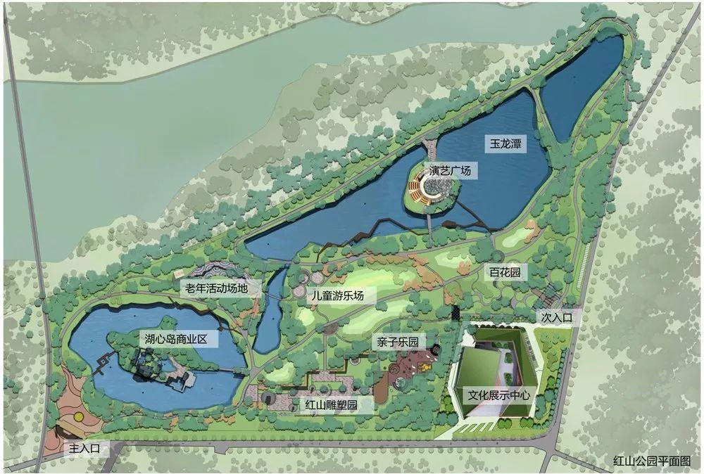 红山公园平面图