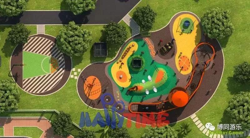 地面与游乐设备结合,丰富而又具趣味的多功能游乐场图片
