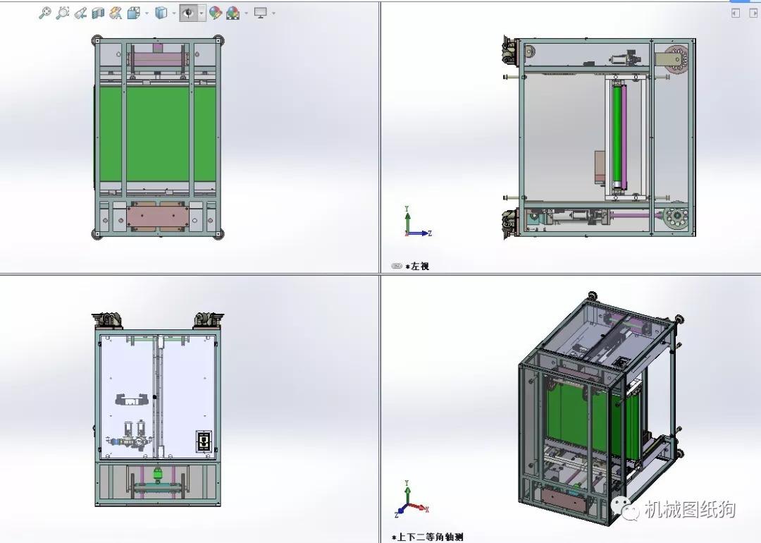 【工程机械】流水线气动升降机3d模型图纸 solidworks图片
