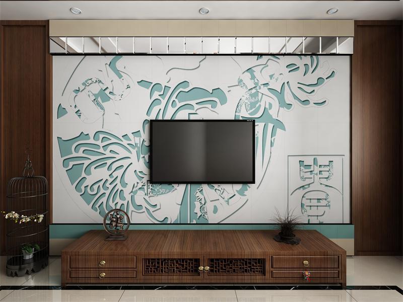 中式风格电视背景墙设计,演绎时尚经典