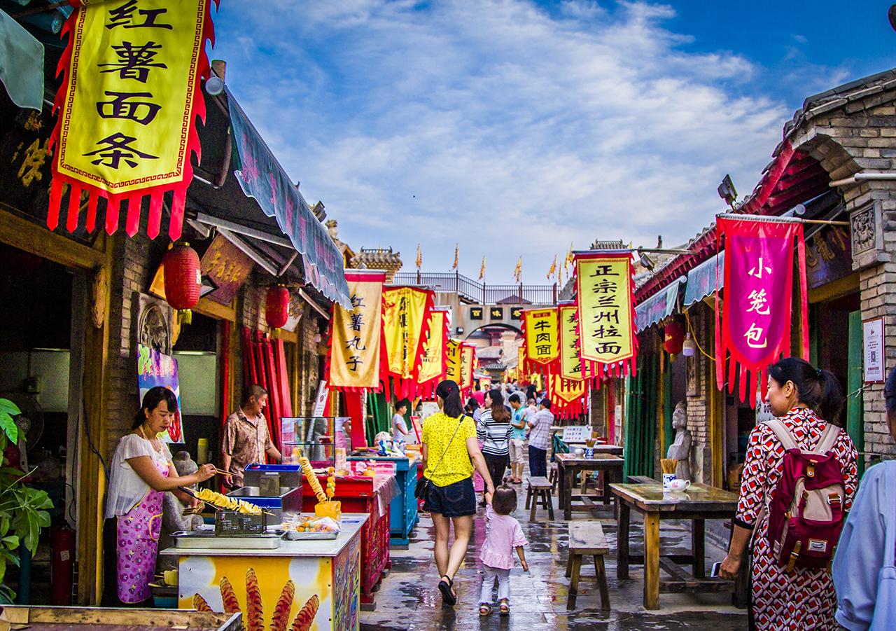 马嵬驿百味巷,百年智慧终成舌尖上的陕州