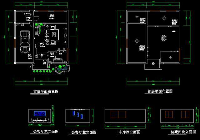 全套别墅设计图纸,结构图纸齐全,含cad设计施工图,设计说明图片