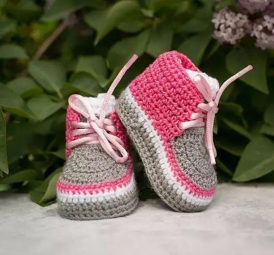 超萌的宝宝钩针鞋!太可爱了,宝妈们学起来!(超详细图解教程)