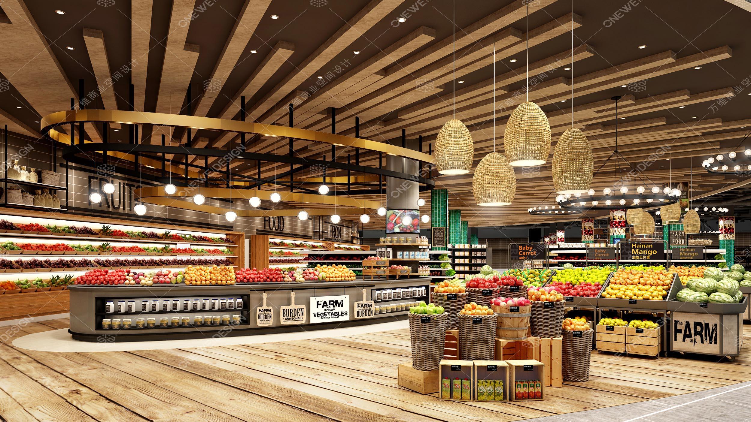 万维超市设计案例_北国先天下Ulife精品超市效果图