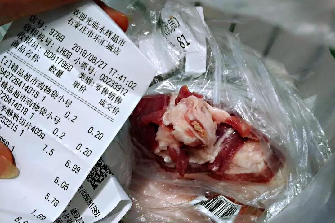 鸭肉猪肉购买肉色发现白色小民生,这肉还吃?_颗粒疙瘩超市图片