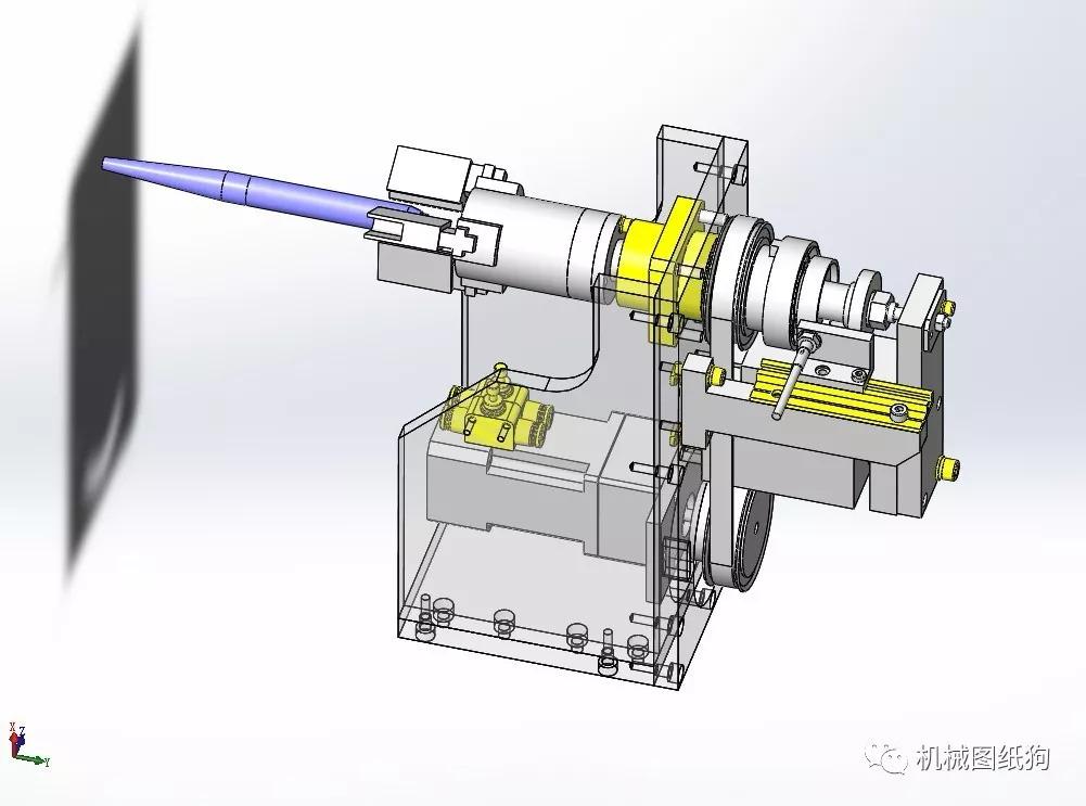 【工程机械】旋转气动夹具3d模型图纸 solidworks设计图片