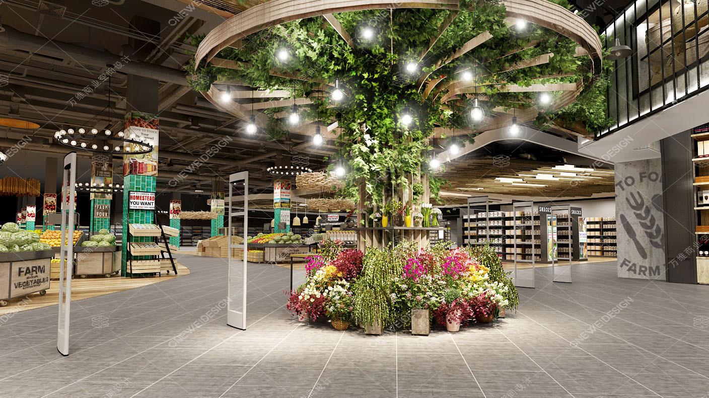 万维超市设计案例_北国先天下Ulife精品超市设计效果图
