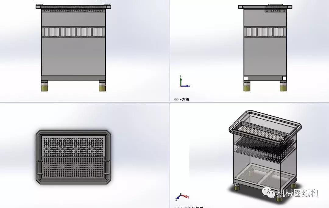 【工程机械】液压油油缸3d模型图纸 solidworks设计