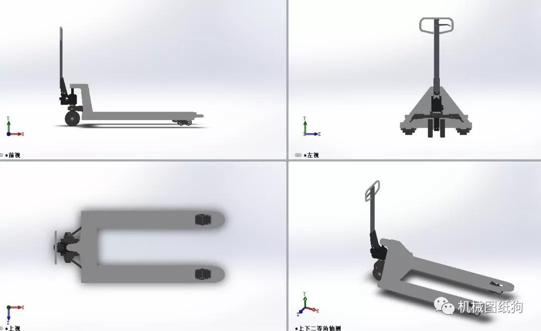 【工程机械】液压车3d模型图纸 solidworks设计