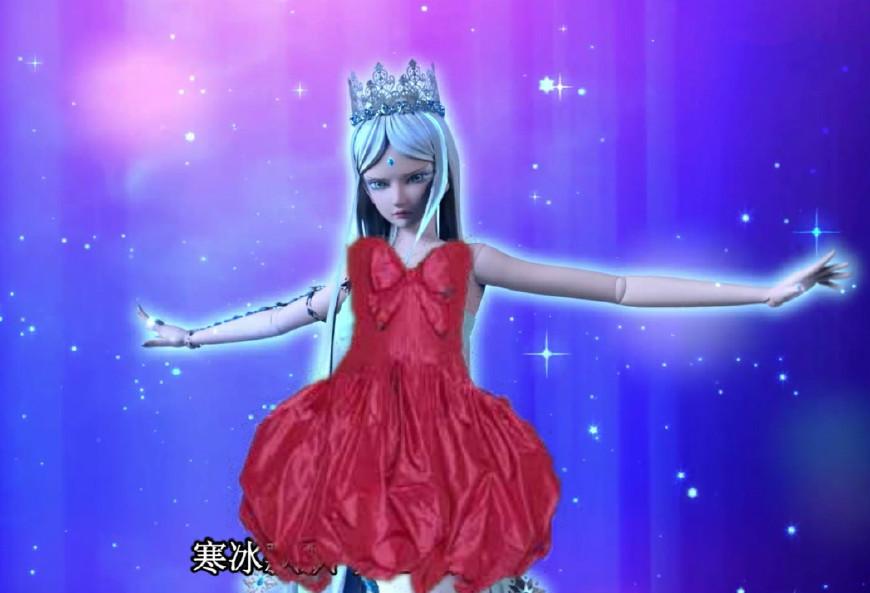 叶罗丽:穿上大红裙的五位小姐姐,冰公主很吓人,茉莉美图片