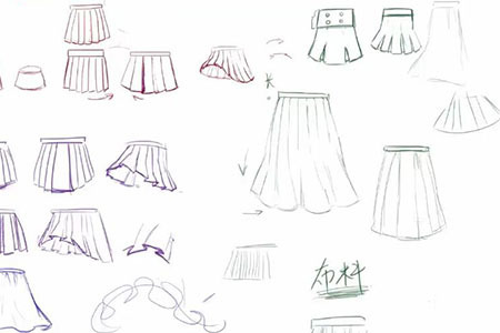 【精选】如何绘制动漫人物少女裙子?