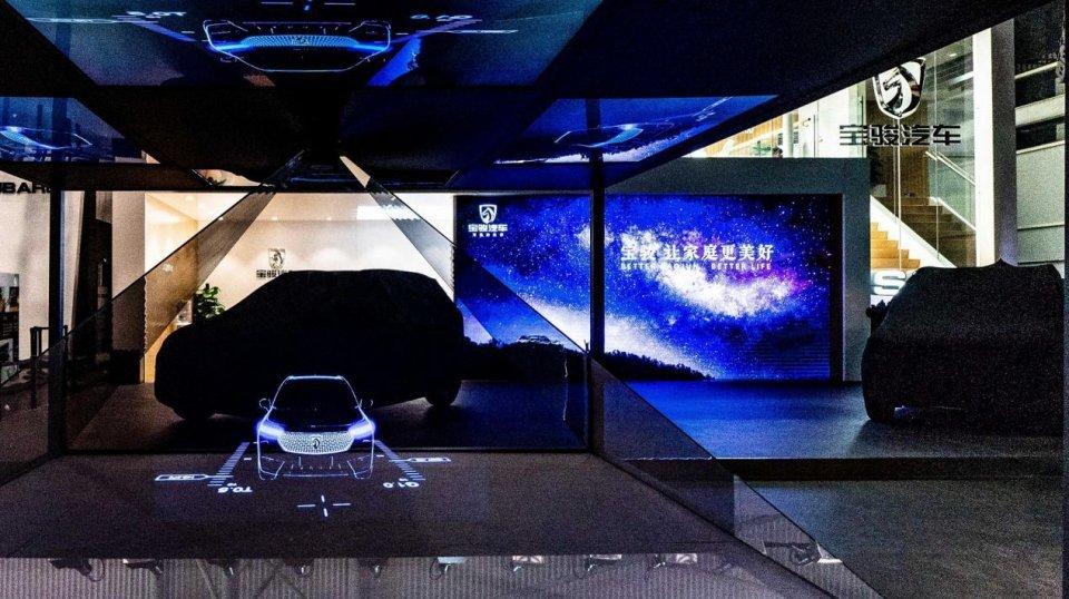 宝骏全新SUV全息投影亮相成都车展,设计灵感来自浩瀚星空