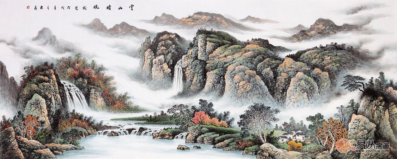 中国美术家协会会员赵洪霞山水画作品欣赏