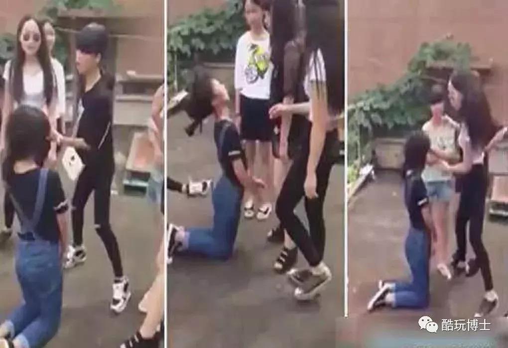 女同学的屄_去年7月,一群女生欺凌一名女生,逼她跪下,扇耳光,脚踹,踢肚子,原因却