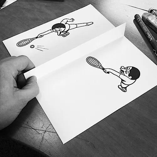 纸上立体画,有趣