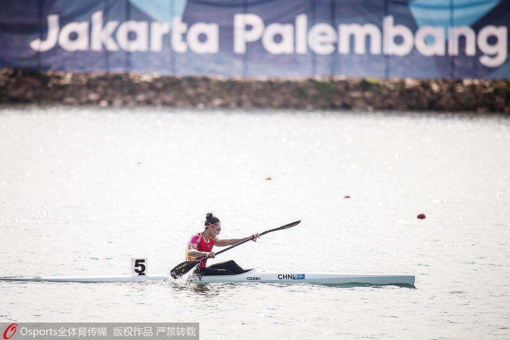 女子单人皮艇200米决赛 李悦0.462秒劣势摘银牌