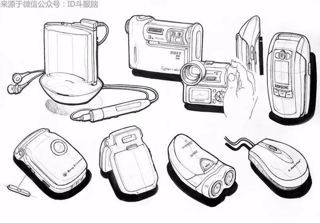 产品设计手绘表达技巧 2